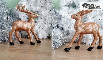 Украсете дома си! Коледен сувенир брокатено еленче, от Svito Shop