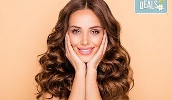 Ултразвуково почистване на лице и терапия по избор: лифтинг, анти-акне, хидратираща, хиалуронова или кислородна в салон за красота Вили