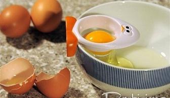 Уред за отделяне на белтък от жълтък