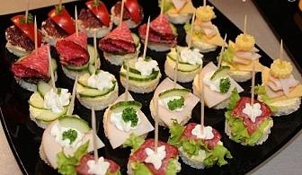За Вашето незабравимо парти - 60 бр. вкусни коктейлни хапки за 25 лв. от Мечо Фууд & Кетъринг