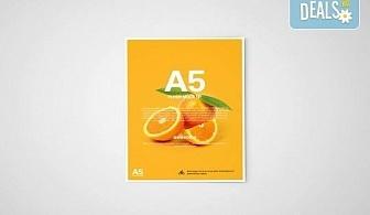 За Вашия бизнес! Изработка на 1000 бр. флаери формат А5 с дизайн на клиента, пълноцветен печат, от Хартиен свят!