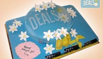 С Вашия бранд! Фирмена торта с лого и индивидуален дизайн от Сладкарница Джорджо Джани!