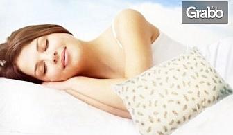 Възглавница с гъши пух и перца