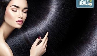 Високоефективна терапия за коса на Medavita с инфрачервена преса в 5 стъпки, подстригване и подсушаване при стилист-коафьор Елена Николова в салон Flowers 2