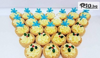 Вкусно си хапни! 12 броя ръчно приготвени Мини Тарталети с крем брюле и украса от пресен плод или фондан, от Mi Amor - Little bakery