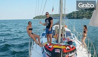 Водолазно гмуркане от ветроходна яхта с инструктор, плюс целодневна разходка из Варненския залив