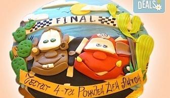 За всички момчета! Детски торти с коли и герои от филмчета с ръчно моделирана декорация от Сладкарница Джорджо Джани
