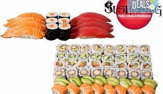 Вземете апетитен Хосомаки – Осака сет с 54 броя суши хапки от Sushi King!