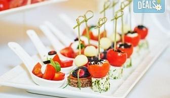 Вземете 86 броя вкусни и ароматни коктейлни хапки микс за всеки повод и 50% отстъпка за вкусотиите на кулинарна работилница Деличи