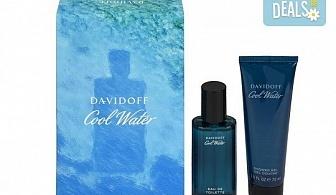 Вземете оригинален подаръчен комплект Cool Water Davidoff за мъже - тоалетна вода и душ гел + безплатна доставка!