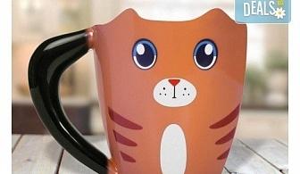 Вземете оригинална чаша за офиса или у дома във формата на коте!