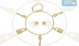 Вземете стилен комплект Pierre Cardin - гривна и обеци, и изненадайте Вашата любима!