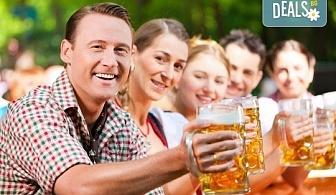 Заповядайте в прохладната механа на Ресторант Мамбо! Топ цена за 500 гр. бирено мезе (плато) и 2 малки наливни бири!