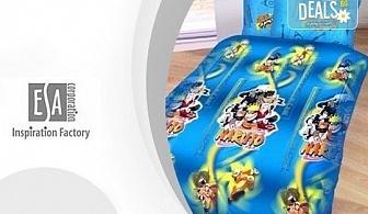 """Зарадвайте детето си с предложението на Еса корпорация! Единичен комплект спално бельо """"Наруто"""" или комплект с олекотена завивка и подарък втора калъфка"""
