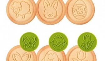 Зелен комплект от 6 бр. печати за сладки Tescoma от серия Delicia