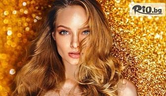 Златна терапия за коса Oro с продукти на Fanola или Официална прическа, от Студио за красота Орхидея