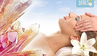 Зодиакално-енергиен чакра масаж на цяло тяло, кристалотерапия, масаж на лице с кристали, зонотерапия и арома масла в Спа център Senses Massage&Recreation!