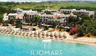 5- звездна почивка през юли и август на първа линия на о. Тасос! Нощувка, закуска, вечеря, басейн, частен плаж + шезлонг и чадър от хотел Ilio Mare 5*